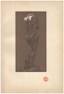 1902 - Bois Gravé Original D'Auguste-Louis Lepère D'après Une Statue D'Auguste Rodin - FRANCO DE PORT - Stiche & Gravuren