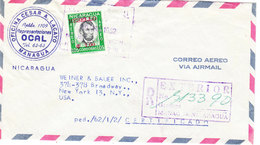 NICARAGUA AIRMAIL COVER 1962 - Nicaragua