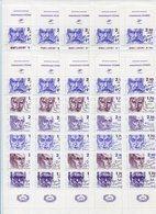 RC 9885 FRANCE BC 2360 LOT 10 X CARNETS PERSONNAGES CÉLÈBRES 1985 NON PLIÉ COTE 250€ NEUF ** - Booklets