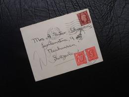 Grossbritannien - Brief Mischfrankatur - GB-CH - 1939 - 1902-1951 (Kings)