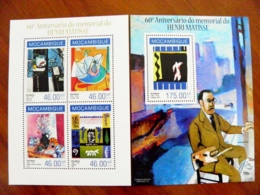 SALE! Mozambique 2 M/s 2014 Art Paintings Painter Henri Matisse - Mozambique