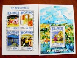 SALE! Mozambique 2 M/s 2013 Art Paintings Impressionists Paul Gauguin Van Gogh Lautrec Signac Bonnard Cezanne - Mozambique