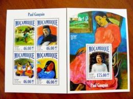 SALE! Mozambique 2 M/s 2013 Art Paintings Impressionist Paul Gauguin - Mozambique