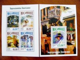 SALE! Mozambique 2 M/s 2013 Art Paintings Impressionist American - Mozambique