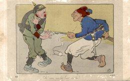 CPA RARE ILLUSTRATION NON PAS LA BAIONNETTE - Guerre 1914-18