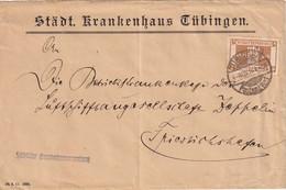 WÜRTTEMBERG 1916 LETTRE DE TÜBINGEN - Wuerttemberg