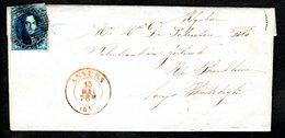 7 Sur LAC Expédiée Le 13 Mai 1857 D'Anvers à Destination De Kerkhove, Cachet D'arrivée Au Verso. - 1851-1857 Médaillons (6/8)