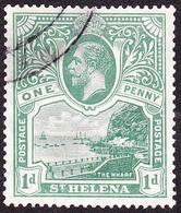 ST HELENA 1922KGV 1d Green SG89FU - Saint Helena Island