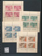 BELGIUM BELGIQUE LEGION WALLONIE COB E26/29 AUTHENTIQUES ET SANS CHARNIERE LES 4 FEUILLETS MNH POSTFRIS - Commemorative Labels