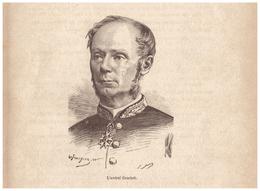 1890 - Gravure Sur Bois - Amédée-Anatole-Prosper Courbet (Abbeville 1827 - Magong 1885) - Amiral - FRANCO DE PORT - Stiche & Gravuren
