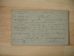 Carte Commerciale Punlicite Librairie Ancienne Laveirarie Rue Aubagne Marseillez 1896 - Advertising