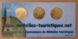 Série De 3 Médailles Touristique Marseille 26 ème Salon National 2010 - Arthus Bertrand