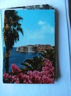 Kroatië Croatia Dubrovnik Panorama With Flowers - Kroatië