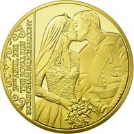 United Kingdom , Médaille, William Et Kate, The Royal Kiss, FDC, Copper Gilt - Royaume-Uni