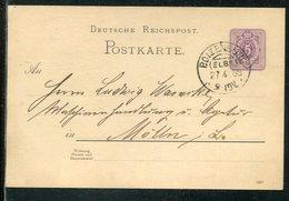 Deutsches Reich / 1888 / KOS-Stempel BOIZENBURG (ELBE) A. Postkarte Mi. P 18 (13531) - Deutschland