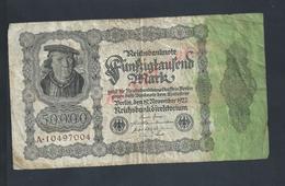 ALLEMAGNE ANCIEN BILLET A REICHSBANKNOTE 50 000 MARK : - [ 3] 1918-1933 : République De Weimar
