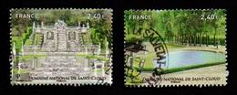 France - N° 4663 & 4664 - Jardins De France - Ob - 2012 (verso Voir Scan) - France