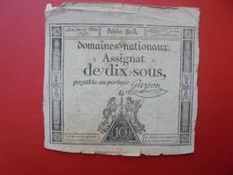 FRANCE 10 SOUS (VOIR SIGNATURE+N° SERIE) (2) - Assignats & Mandats Territoriaux