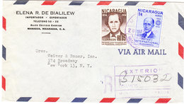 NICARAGUA AIRMAIL COVER 1957 - Nicaragua
