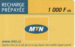 Ivory Coast MTN Recharge - Costa D'Avorio