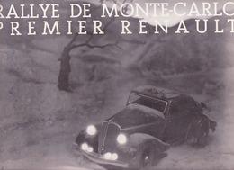 Renault, Rallye De Monté Carlo, Les 8 Cylindres - Advertising