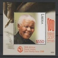 Liberia 2018 Mi. ? S/S Joint Issue PAN African Postal Union Nelson Mandela Madiba 100 Years - Liberia