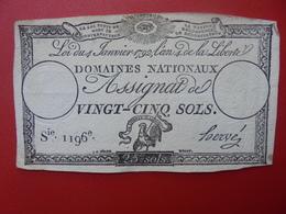 FRANCE 25 SOLS (VOIR SIGNATURE+N° SERIE) (13) - Assignats