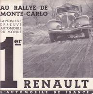 Renault, Rallye De Monté Carlo, Victoire D'une Nervasport - Advertising