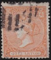 ESPANA  .      Yvert   81         .       O       .         Cancelled      .    /   .  Oblitéré - 1850-68 Regno: Isabella II