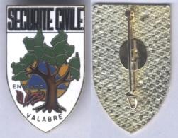Insigne De La Sécurité Civile D'Entente Valabre ( Bouche Du Rhône ) - Firemen