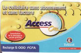 Ivory Coast Telecel Recharge, Access One - Côte D'Ivoire