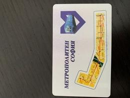 Ticket De Metro Sofia, Bulgarie - Subway