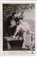 Cpa Carte Postale Ancienne  - Fantaisie Couple - Couples
