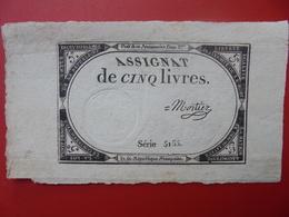 FRANCE 5 LIVRES (VOIR SIGNATURE+N° SERIE) (24) - Assignats