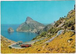 Pollensa: 4x AUTOBUS COACH AUTOCAR TOURINGCAR - 'Es Colomeret' Camino De Formentor - Mallorca - (Espana/Spain) - Buses & Coaches