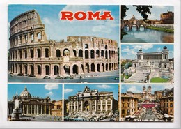 ROMA, Multi View, Used Postcard [23211] - Roma (Rome)