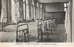 CARTE POSTALE ORIGINALE ANCIENNE : ROUBAIX  COLLEGE DE JEUNES FILLES LE DORTOIR DES PETITES  ANIMEE  NORD (59) - Roubaix