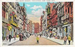 Mott Street, Chinatown, New York City NY Post Card N° 550 Non Circulated - Manhattan