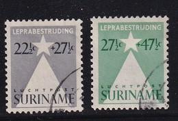 Dutch Surinam 1947, Airmail, Lepra, Complete Set, Vfu. Cv 8 Euro - Suriname ... - 1975