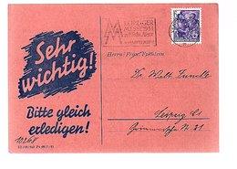 Sehr Wichtig Halle Klein Gottwald Strasse 61 Landeslotterie (291) - Brieven En Documenten