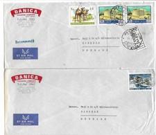 Lebanon 2 Covers Sent To Denmark. # 479 # - Lebanon