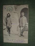 TUNIS 1903 La Goulette Deux Forçats. N° 1789. Forçats Condamnés Prison Peine Sentence Justice Chaîne Afrique Nord Tunisi - Tunisia