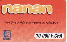 Burkina Faso,  Onetel 10 000 F CFA, Nanan - Burkina Faso