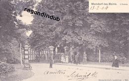 CPA - LUXEMBOURG - MONDORF-les-BAINS - L' ENTREE - BELLE OBLIT LUXEM REMICH Voy 1904 Bel état - CARTE Sur PLAN RARE - Mondorf-les-Bains