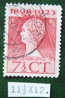 Regeringsjubileumzegel 7 1/2 Ct NVPH 123G 123 G (Mi 125) 1923 Gestempeld / USED NEDERLAND / NIEDERLANDE - Period 1891-1948 (Wilhelmina)