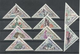 DAHOMEY YVERT TAXAS 37/46    MNH  ** - Benin – Dahomey (1960-...)