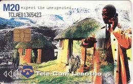 Lesotho, Chip, Tele-Com M20, Against HIV / Aids - Lesotho