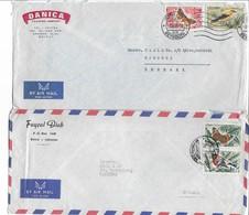Lebanon 2 Covers Sent To Denmark. # 503 # - Lebanon