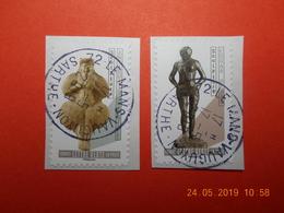 FRANCE 2019  CL084  Du Carnet  LE NU DANS L'ART  (2 Timbres) Beaux Cachets Ronds (A Voyagé) - France