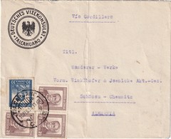 CHILI 1933 LETTRE DU VICE CONSULAT D'ALLEMAGNE DE TALCAHUANO - Chile